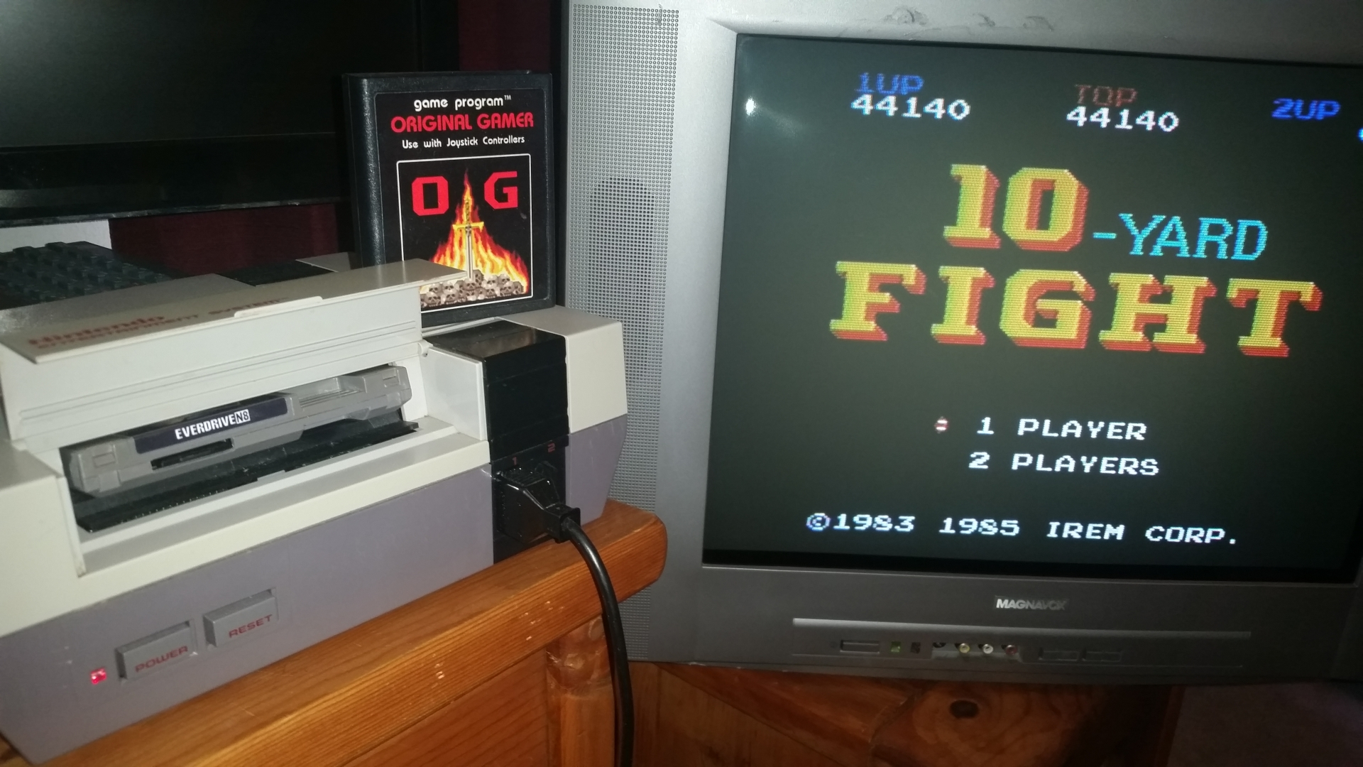 OriginalGamer: 10 Yard Fight (NES/Famicom) 44,140 points on 2016-08-26 03:36:05