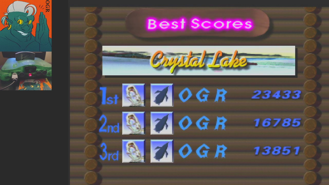 AwesomeOgre: 1080 Snowboarding: Trick: Crystal Lake (N64) 23,433 points on 2020-04-24 04:14:28