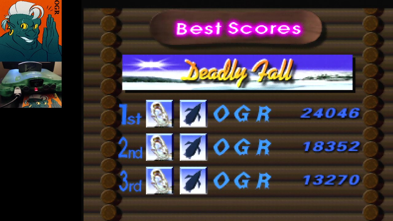 AwesomeOgre: 1080 Snowboarding: Trick: Deadly Fall (N64) 24,046 points on 2020-04-24 04:16:51