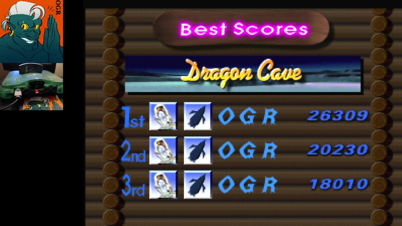 AwesomeOgre: 1080 Snowboarding: Trick: Dragon Cave (N64) 26,309 points on 2020-04-24 04:20:47