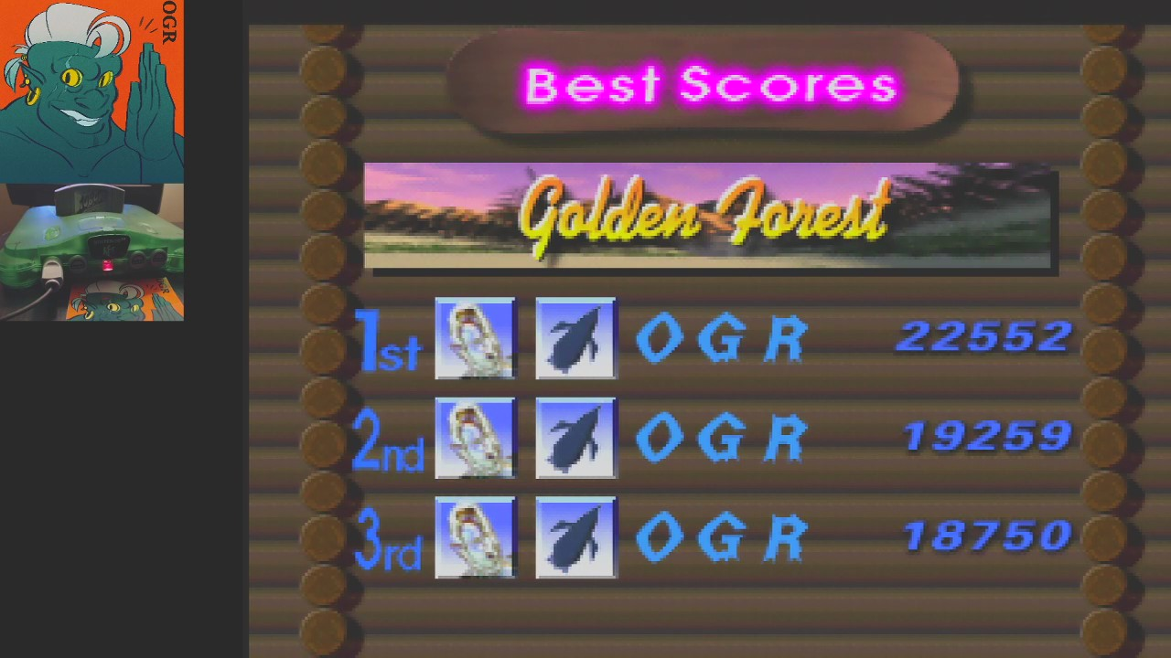 AwesomeOgre: 1080 Snowboarding: Trick: Golden Forest (N64) 22,552 points on 2020-04-24 04:21:45