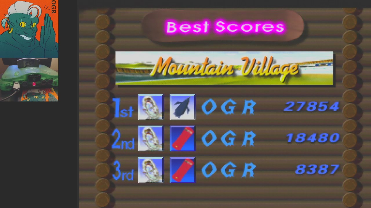 AwesomeOgre: 1080 Snowboarding: Trick: Mountain  (N64) 27,854 points on 2020-04-24 04:23:50
