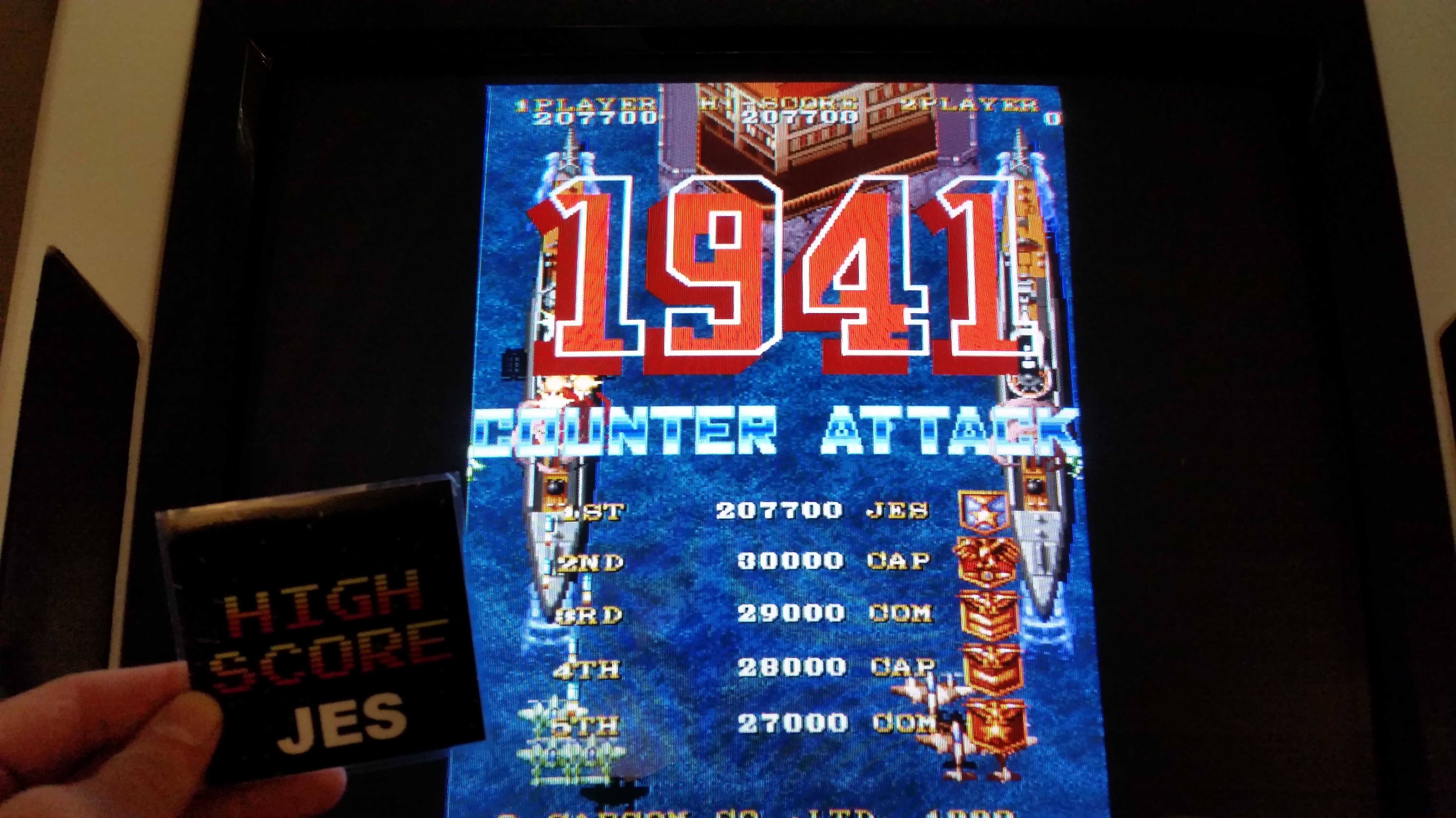 JES: 1941: Counter Attack (Arcade Emulated / M.A.M.E.) 207,700 points on 2016-12-10 14:27:31