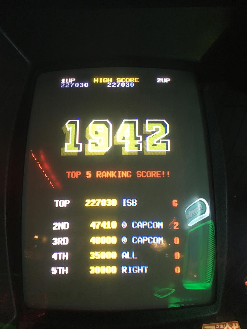 ILLSeaBass: 1942 (Arcade) 227,030 points on 2016-11-17 20:54:41