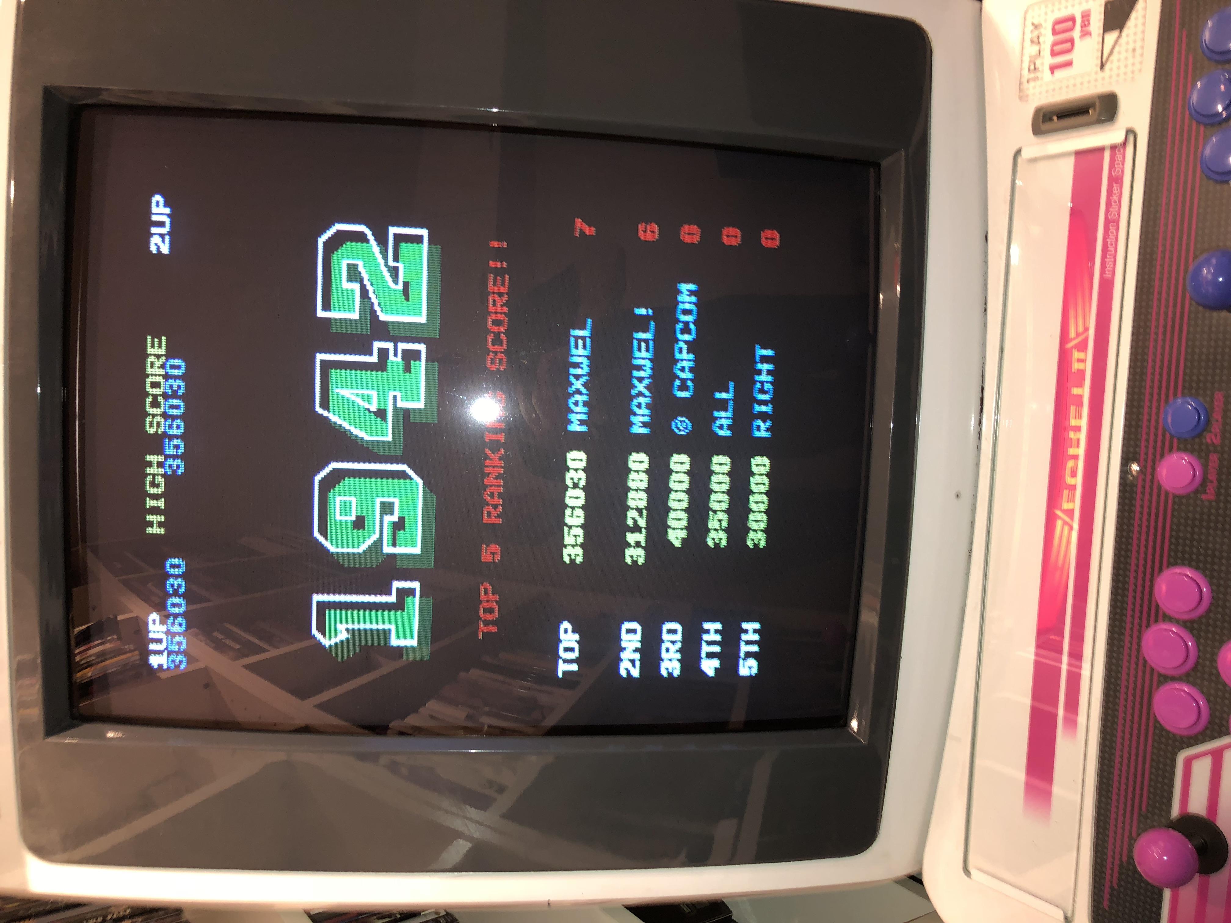 Maxwel: 1942 (Arcade) 356,030 points on 2017-10-17 07:16:47