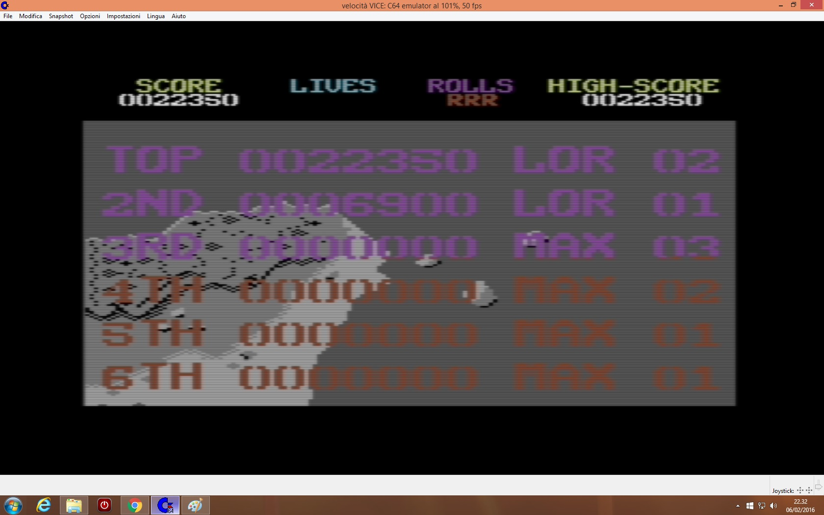 lenny2571: 1942 (Commodore 64 Emulated) 22,350 points on 2016-02-06 15:33:04