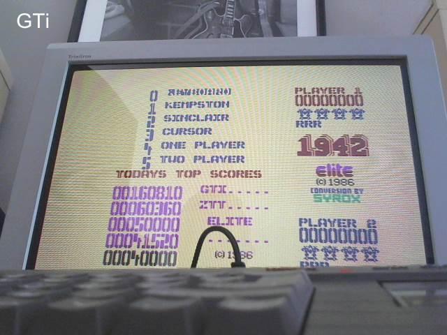 GTibel: 1942 (ZX Spectrum) 160,810 points on 2017-05-23 06:26:52