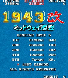 1943 Kai: Midway Kaisen [Japan] [1943kai] 215,800 points