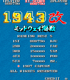 1943 Kai: Midway Kaisen [Japan] [1943kai] 888,790 points