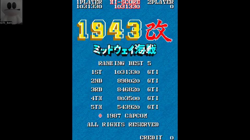 1943 Kai: Midway Kaisen [Japan] [1943kai] 1,031,330 points