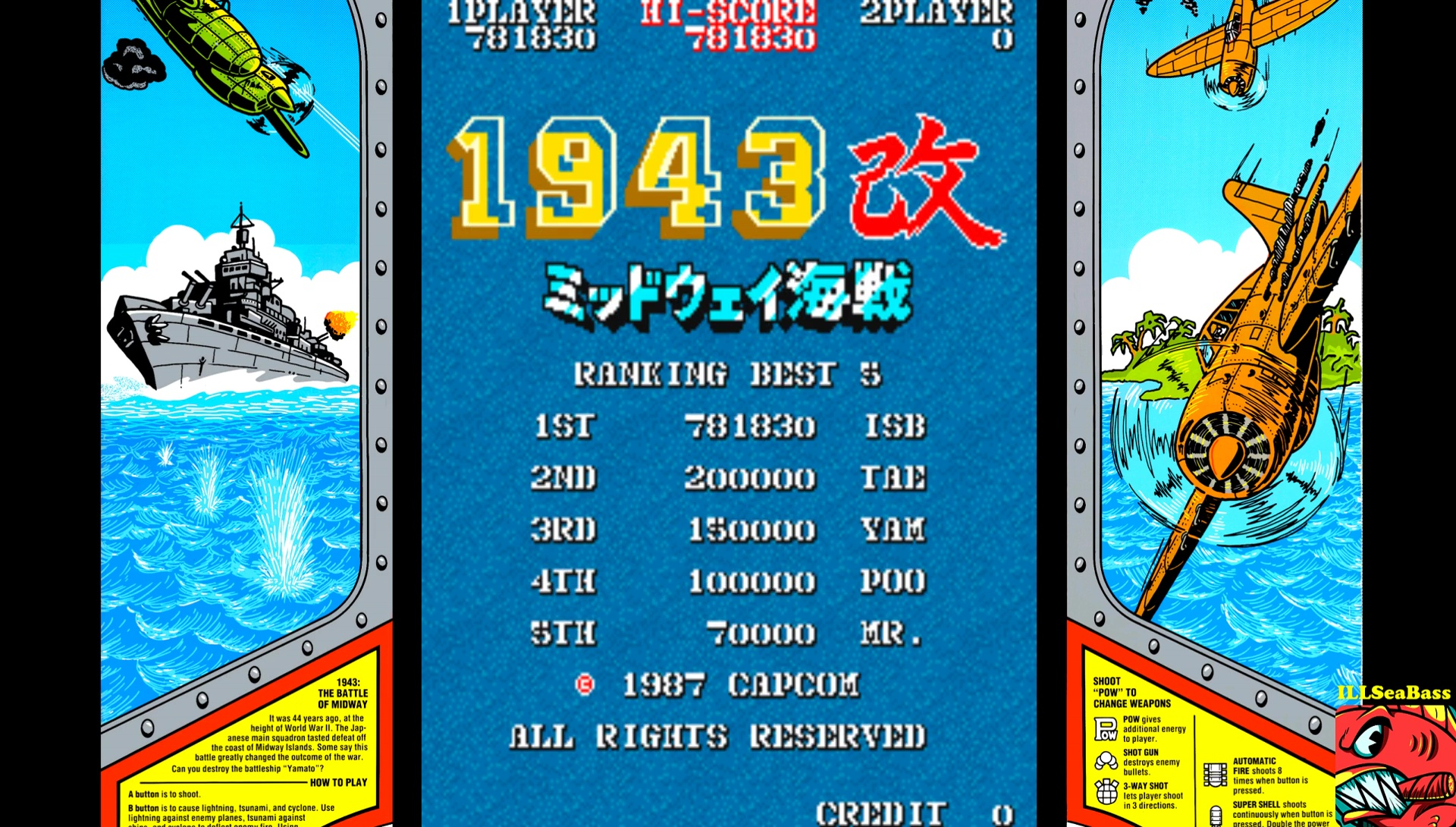 ILLSeaBass: 1943 Kai: Midway Kaisen [Japan] [1943kai] (Arcade Emulated / M.A.M.E.) 781,830 points on 2017-04-12 00:26:08