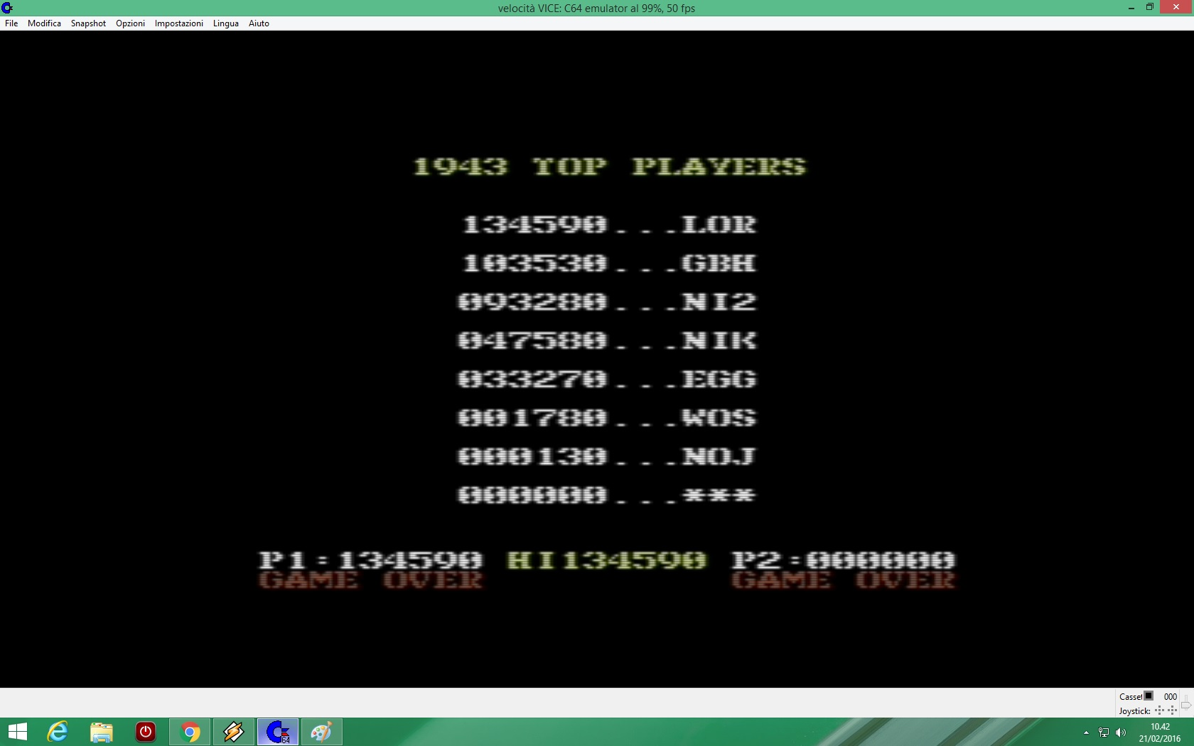 lenny2571: 1943: The Batttle Of Midway (Commodore 64 Emulated) 134,590 points on 2016-02-21 03:42:39