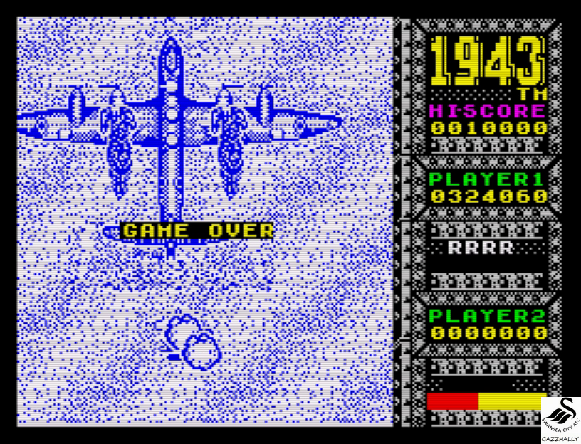 gazzhally: 1943 (ZX Spectrum Emulated) 324,060 points on 2017-07-03 05:45:00