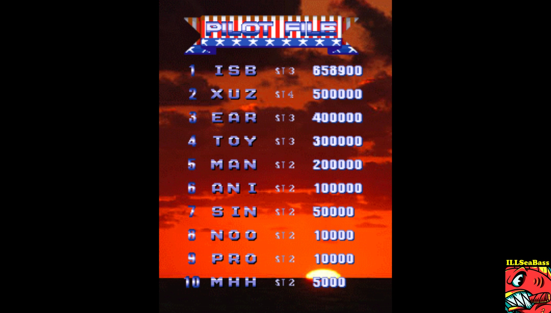ILLSeaBass: 1945k III [1945kiii] (Arcade Emulated / M.A.M.E.) 658,900 points on 2017-07-08 23:30:52