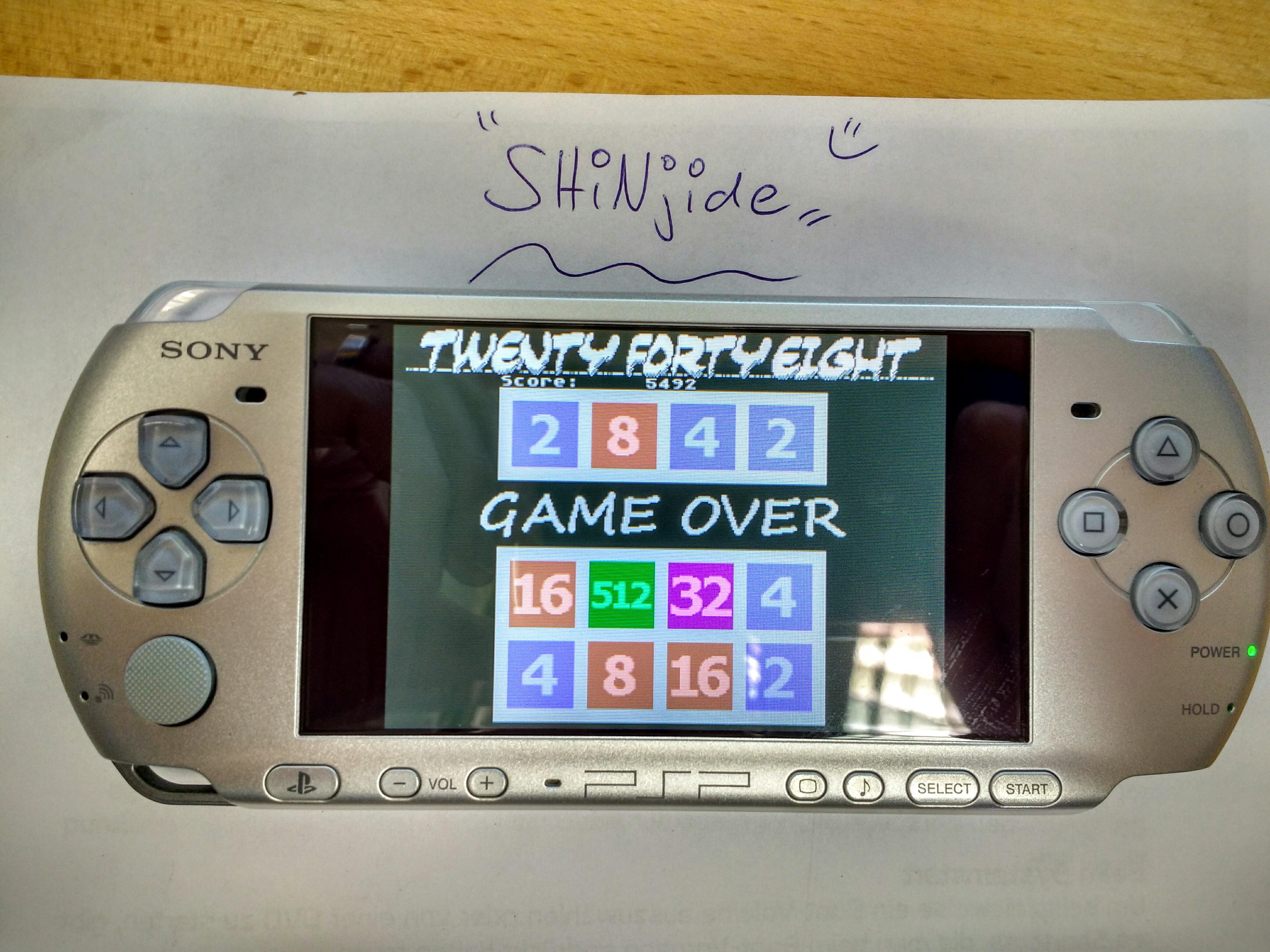 SHiNjide: 2048 (Atari 400/800/XL/XE Emulated) 5,492 points on 2015-11-13 03:51:27