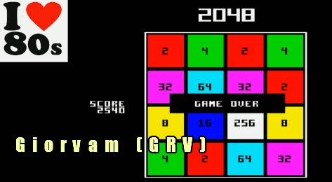 Giorvam: 2048 (BBC Micro Emulated) 2,540 points on 2018-01-30 12:54:43