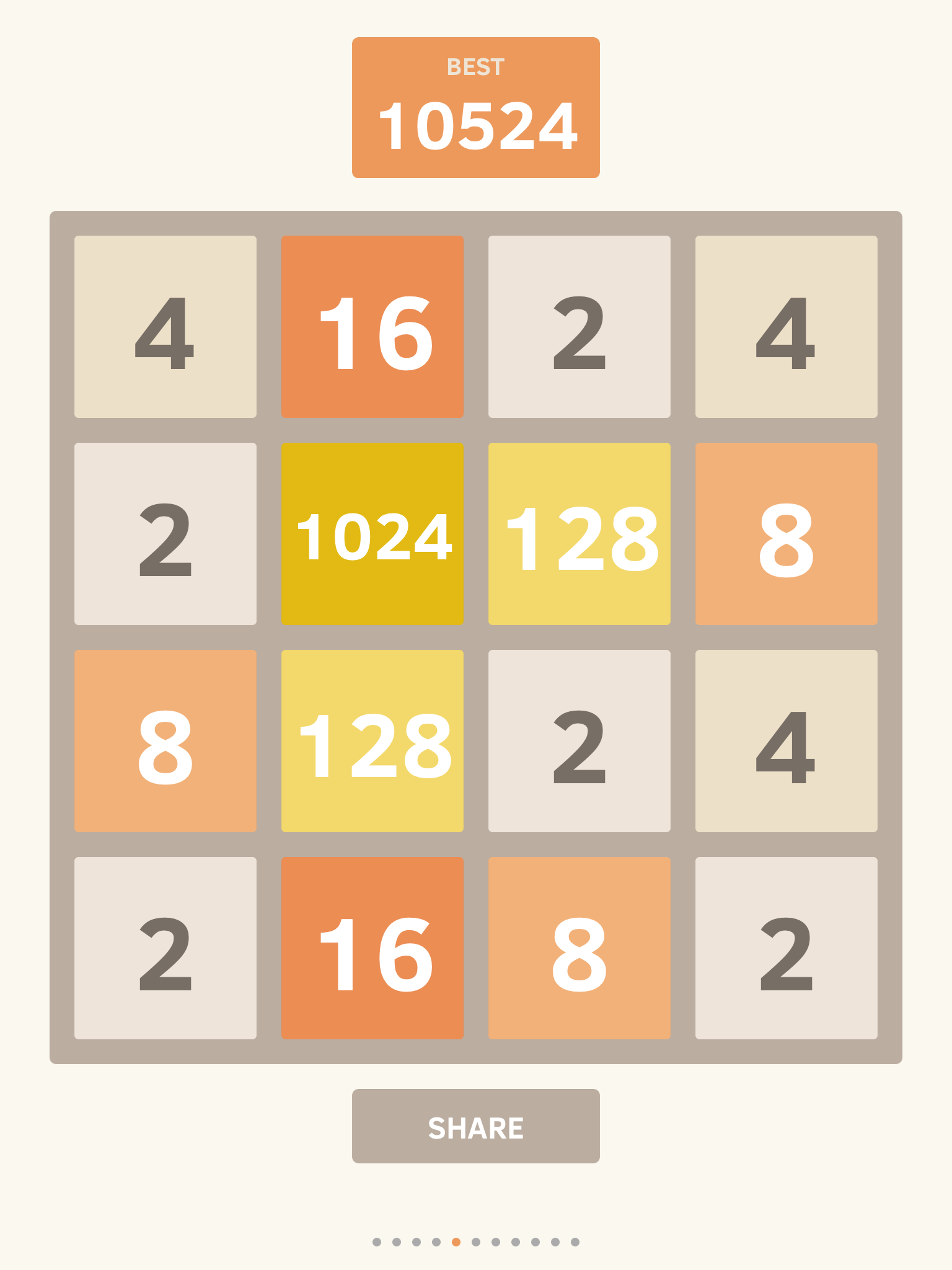 2048 10,524 points