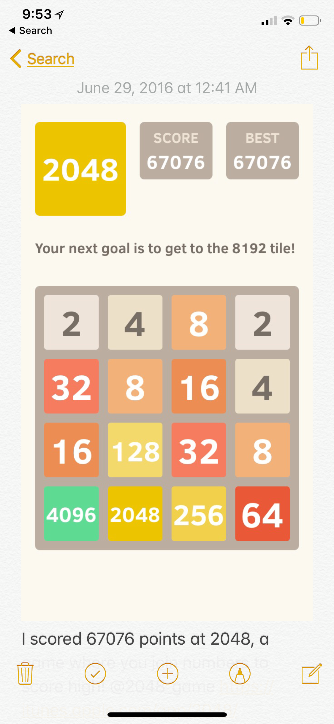 2048 67,076 points