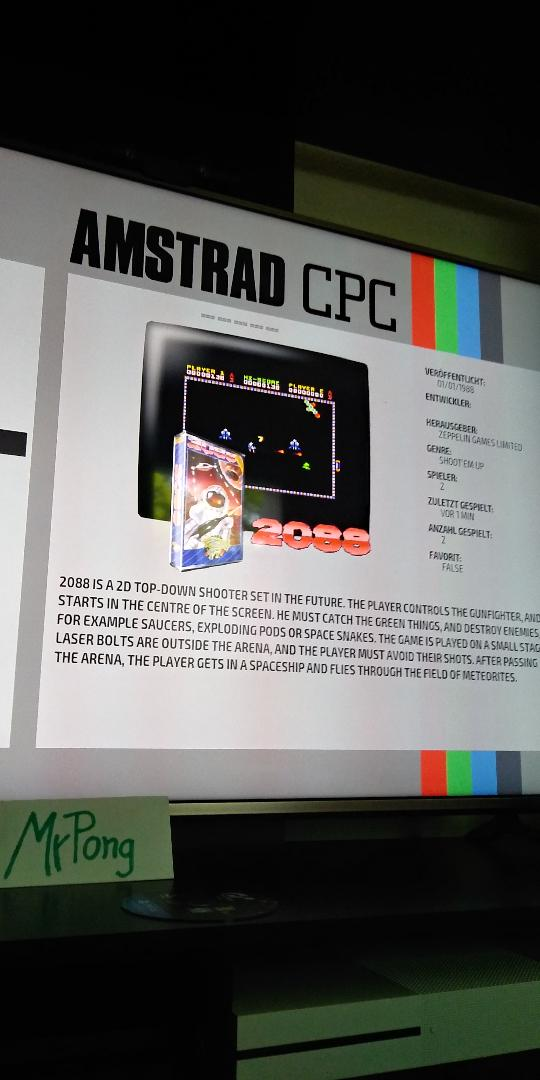 MrPong: 2088 (Amstrad CPC Emulated) 31,752 points on 2019-04-23 11:22:56