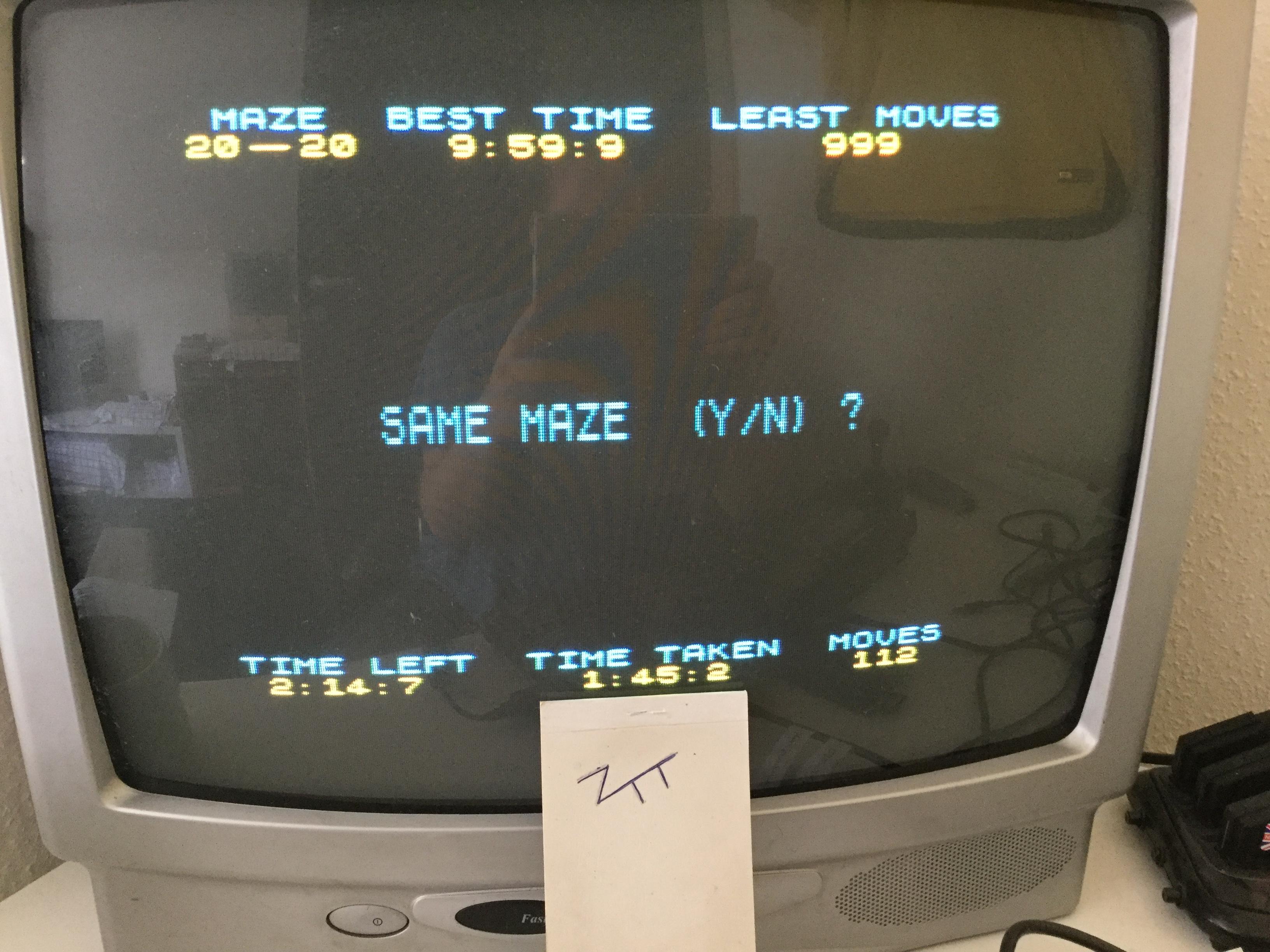 Frankie: 3-D Maze [J.A. Steele][Maze 20x20] (ZX Spectrum) 0:01:45.2 points on 2017-05-28 03:56:42
