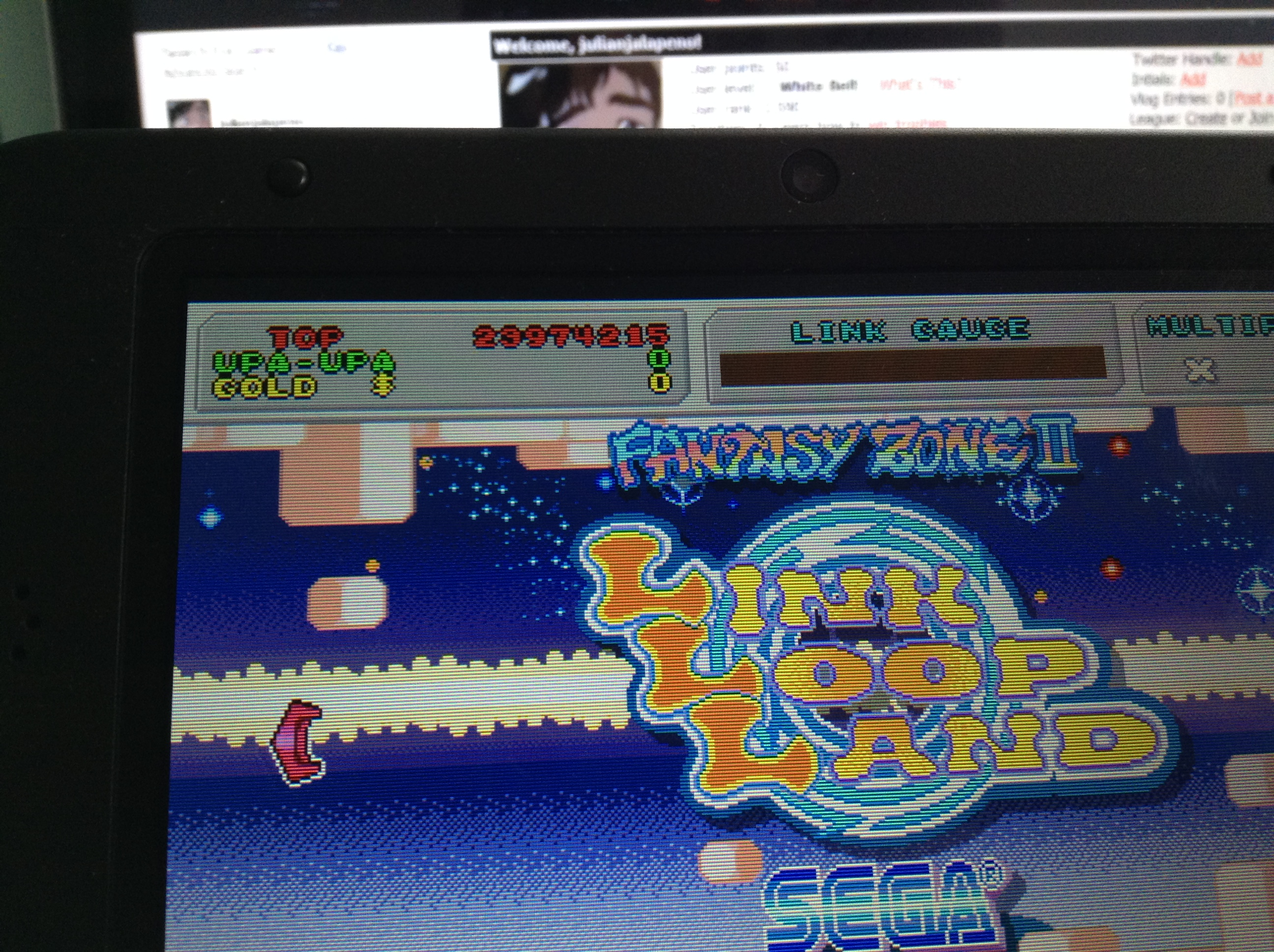 julianjalapeno: 3D Fantasy Zone II W: Endless Mode (Nintendo 3DS) 23,974,215 points on 2018-01-31 02:00:28