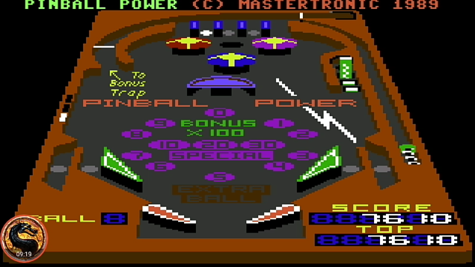 omargeddon: 3D Pinball (Commodore 64 Emulated) 7,610 points on 2019-10-19 13:32:06
