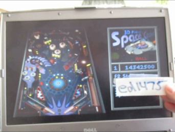 ed1475: 3D Pinball: Space Cadet (PC) 14,342,500 points on 2016-02-19 13:50:36