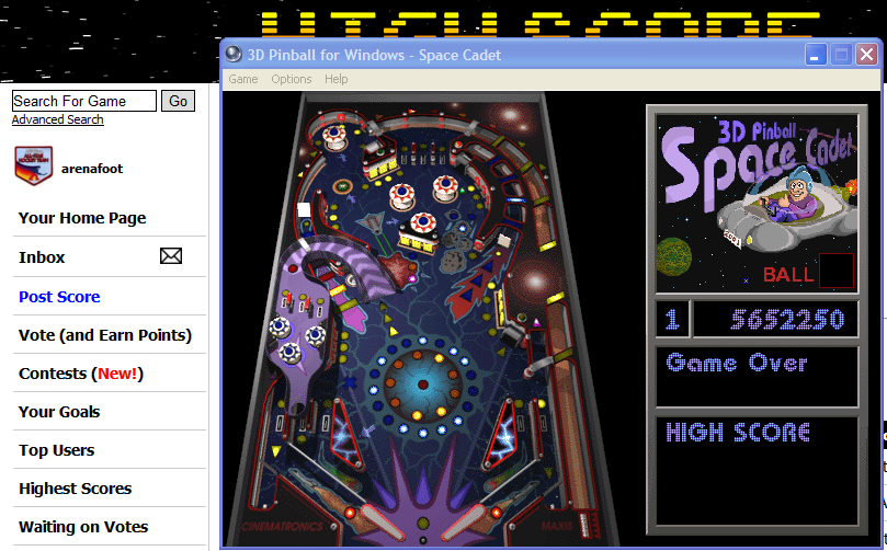 3D Pinball: Space Cadet 5,652,250 points