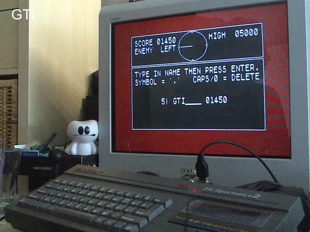 GTibel: 3D Tank Duel [aka Battle-Tank Simulator] (ZX Spectrum) 1,450 points on 2017-08-12 06:56:19