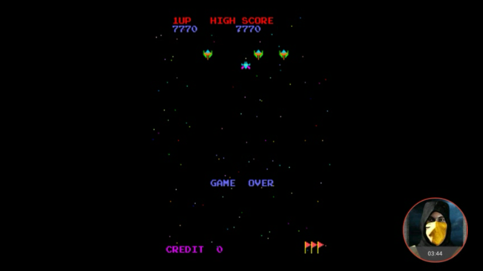 omargeddon: 4 Fun in 1: Galaxian Pt5 [4in1] (Arcade Emulated / M.A.M.E.) 7,770 points on 2018-04-20 00:06:17