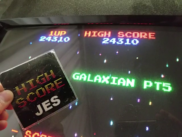 JES: 4 Fun in 1: Galaxian Pt5 [4in1] (Arcade Emulated / M.A.M.E.) 24,310 points on 2018-09-09 12:34:56