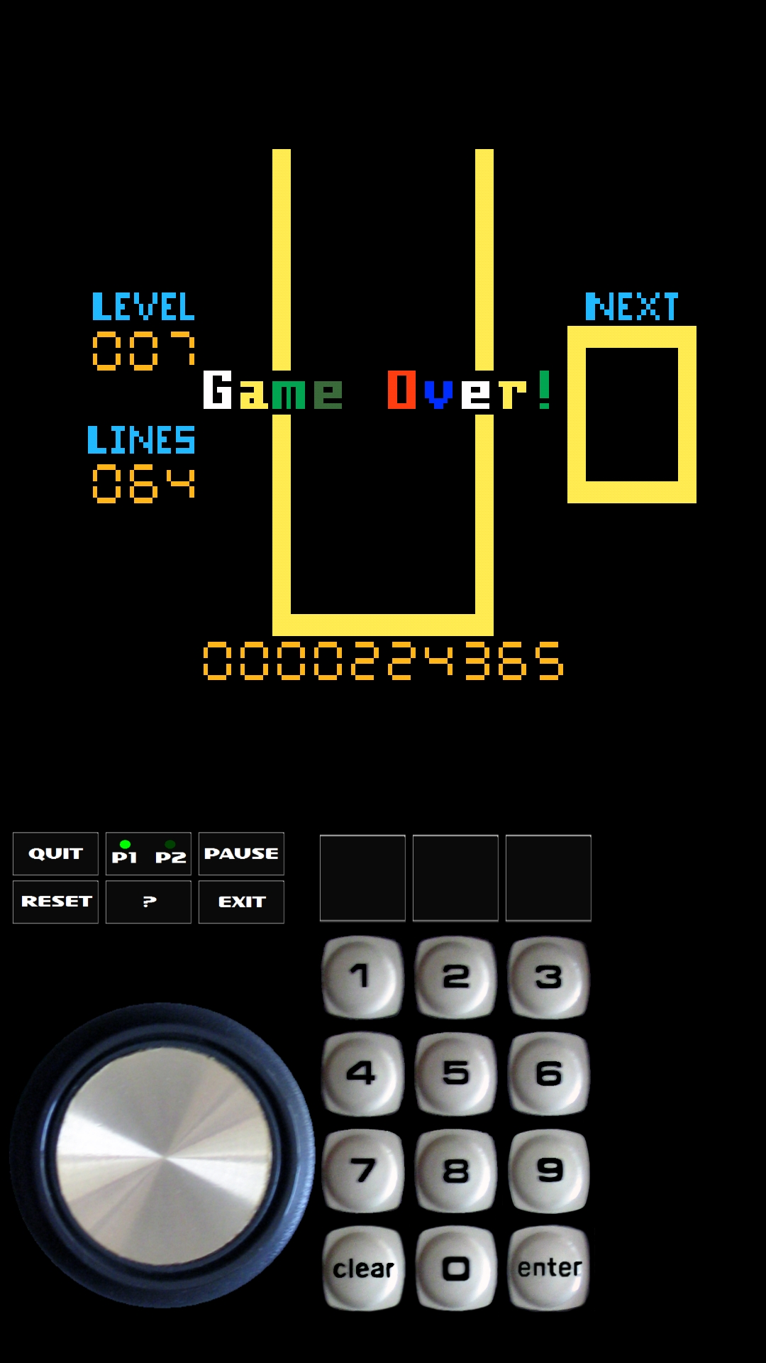 Bamse: 4-Tris [Lines] (Intellivision Emulated) 64 points on 2019-06-12 19:18:14
