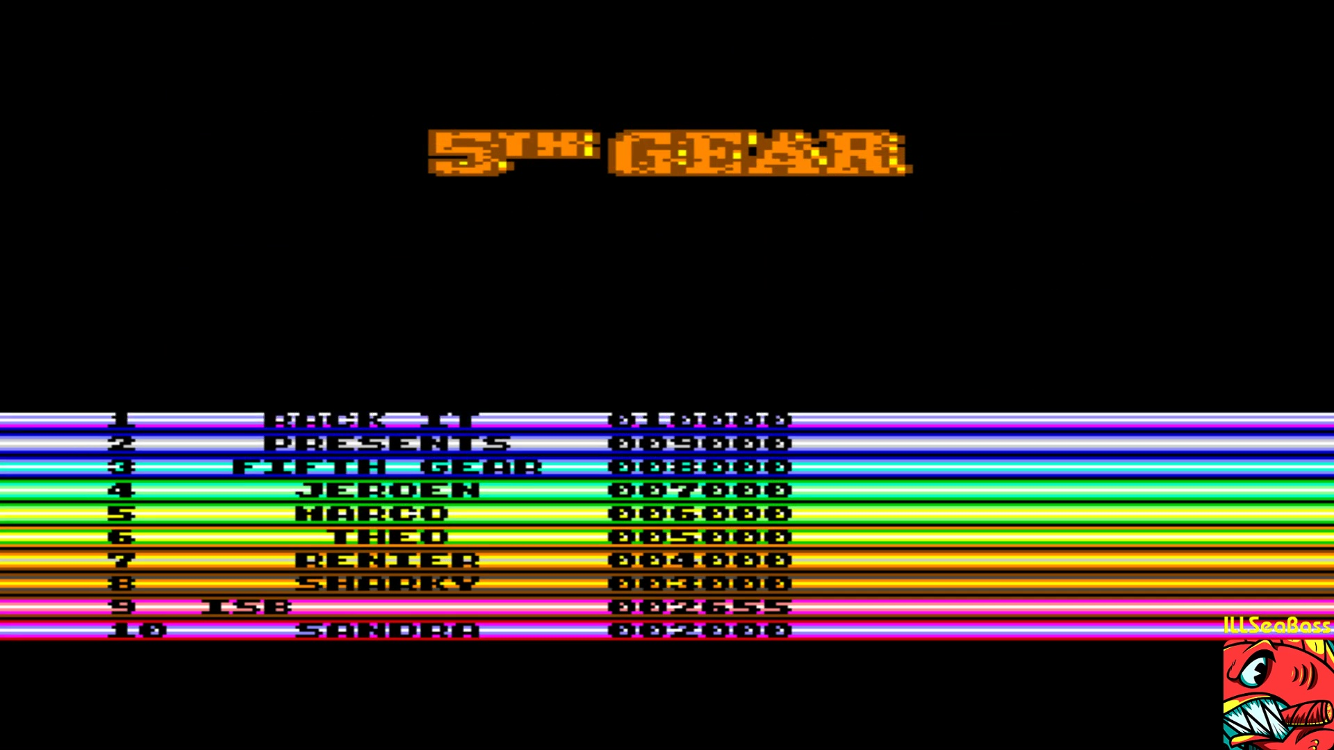 ILLSeaBass: 5th Gear (Commodore 64 Emulated) 2,655 points on 2018-01-14 18:49:13