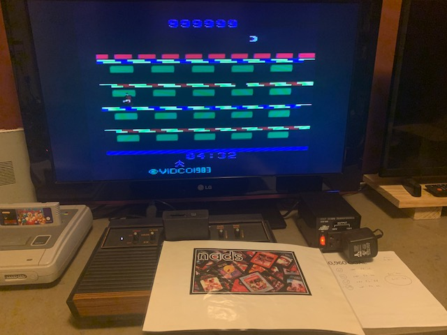 nads: A Mysterious Thief / Criminal Pursuit (Atari 2600 Novice/B) 999,999 points on 2020-09-03 20:46:03