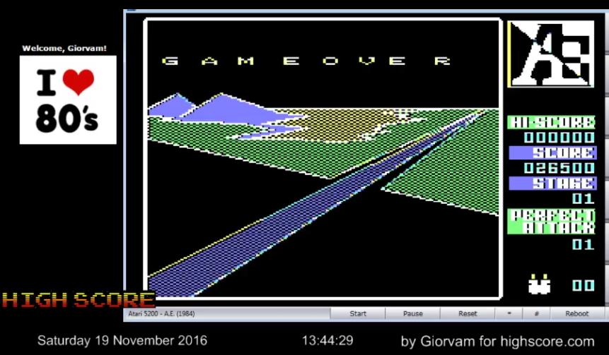 Giorvam: A.E. (Atari 5200 Emulated) 26,500 points on 2016-11-19 05:55:45