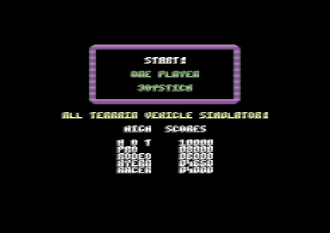 Hyeron: ATV Simulator (Commodore 64 Emulated) 4,650 points on 2019-06-10 06:57:30