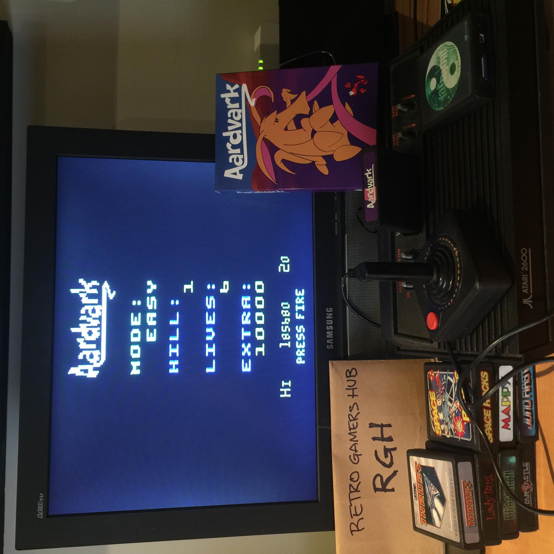 RetroGamersHub: Aardvark [Easy] (Atari 2600) 185,680 points on 2020-05-18 22:56:07