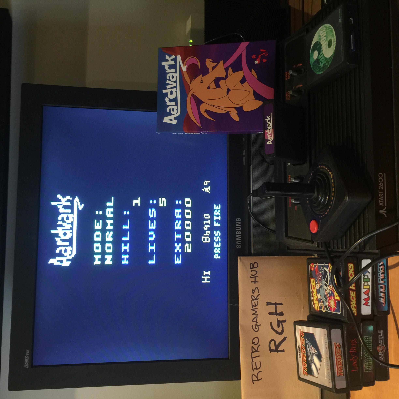RetroGamersHub: Aardvark [Normal] (Atari 2600) 86,910 points on 2020-05-18 22:57:32