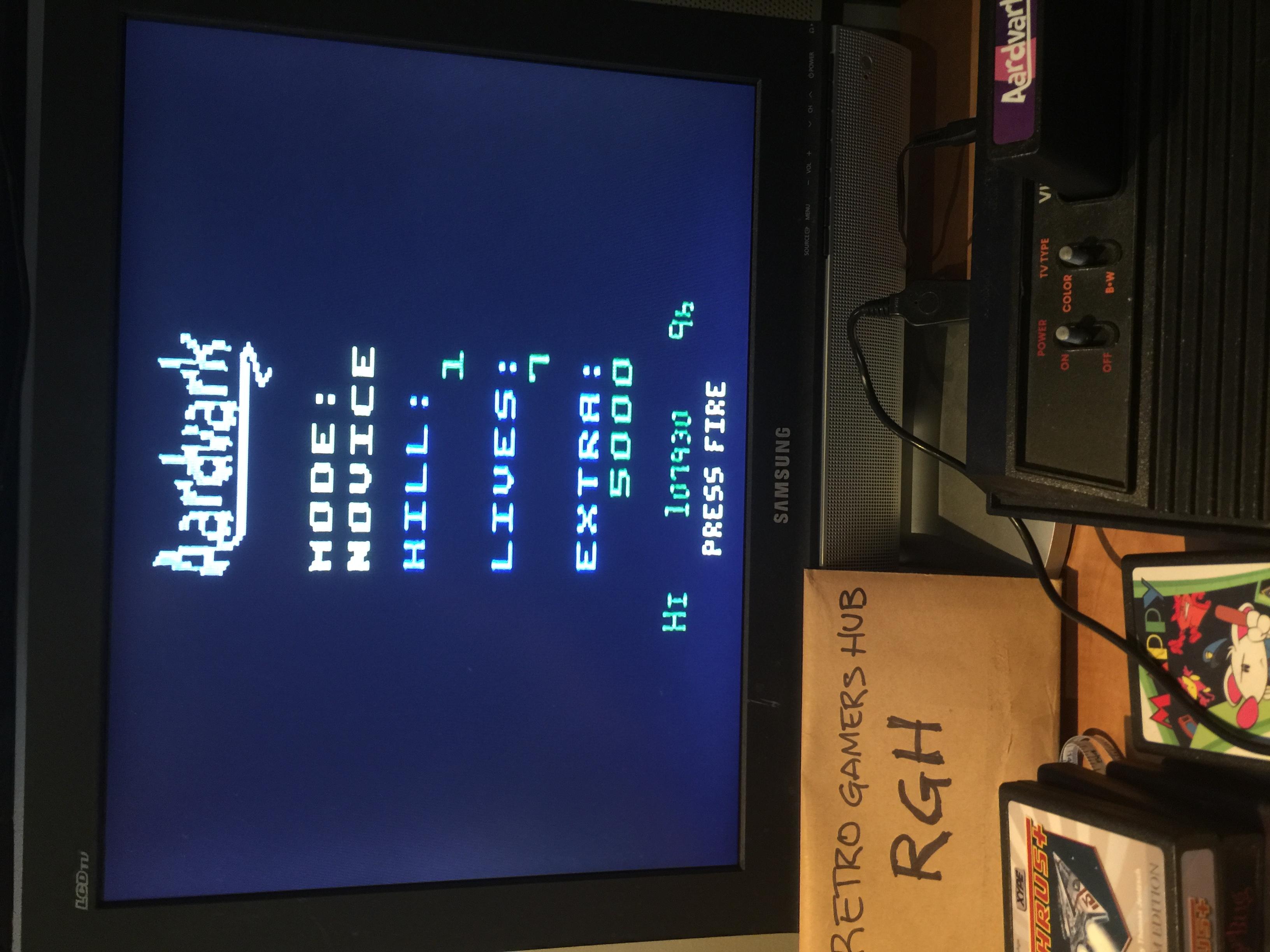 RetroGamersHub: Aardvark [Novice] (Atari 2600) 1,107,930 points on 2020-06-07 17:57:48