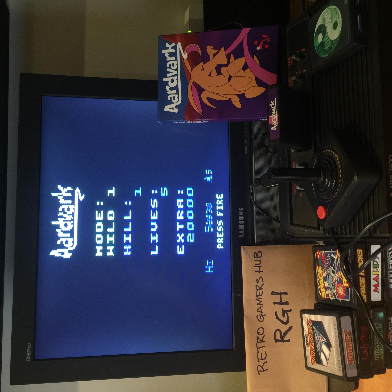 RetroGamersHub: Aardvark [Wild 1] (Atari 2600) 52,930 points on 2020-05-18 23:01:52