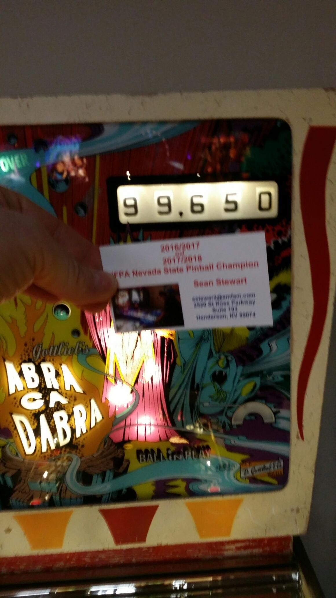 Abra Ca Dabra 99,650 points