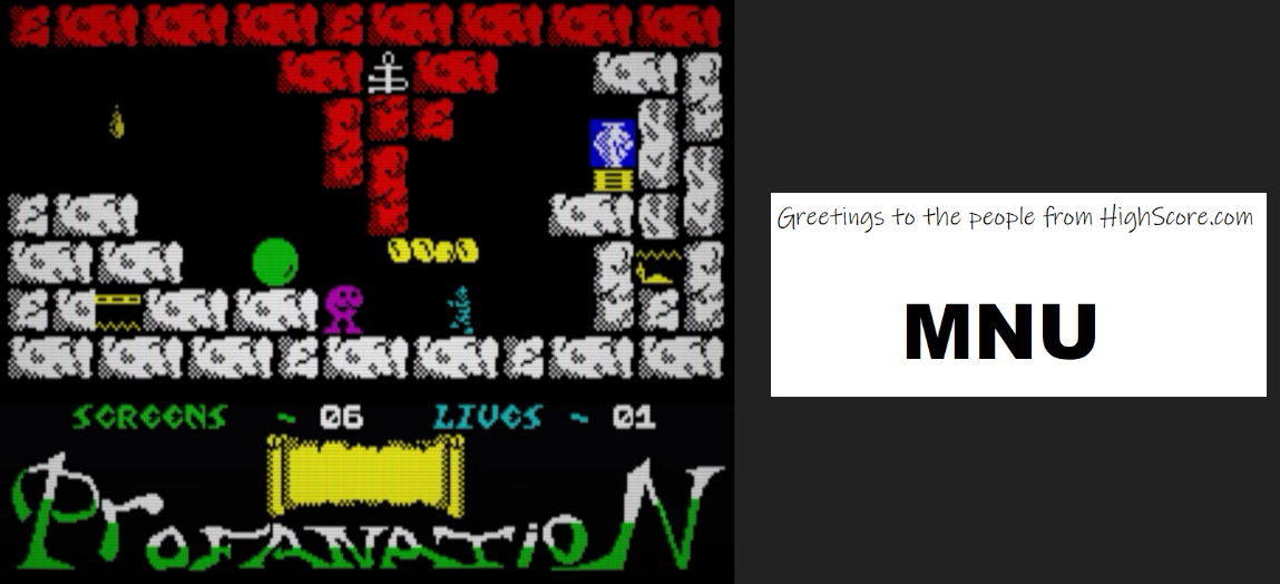 hughes10: Abu Simbel Profanation [Screens Completed] (ZX Spectrum Emulated) 5 points on 2020-02-28 10:49:19