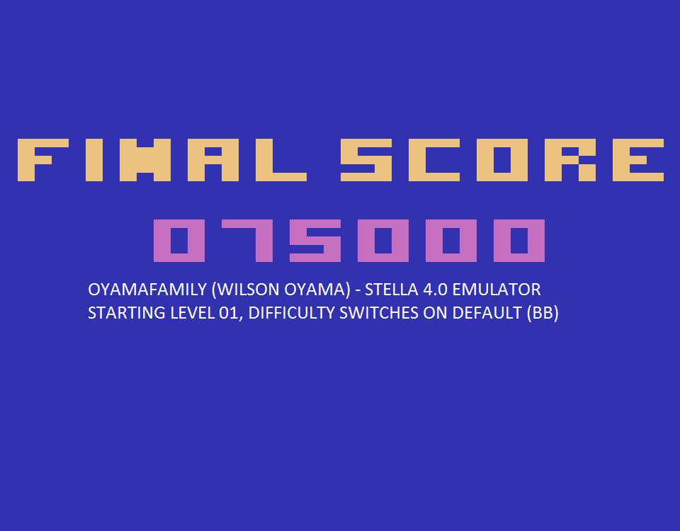 oyamafamily: Acid Drop (Atari 2600 Emulated) 75,000 points on 2015-08-28 18:26:50