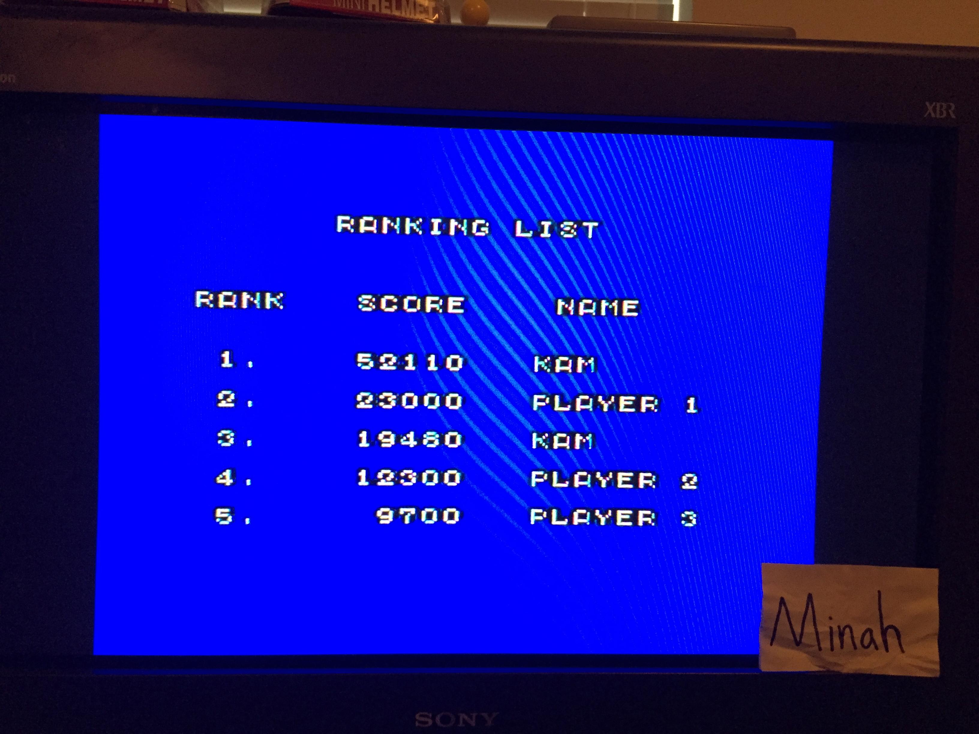minah: Action Fighter (Sega Master System) 52,110 points on 2016-04-23 17:04:31