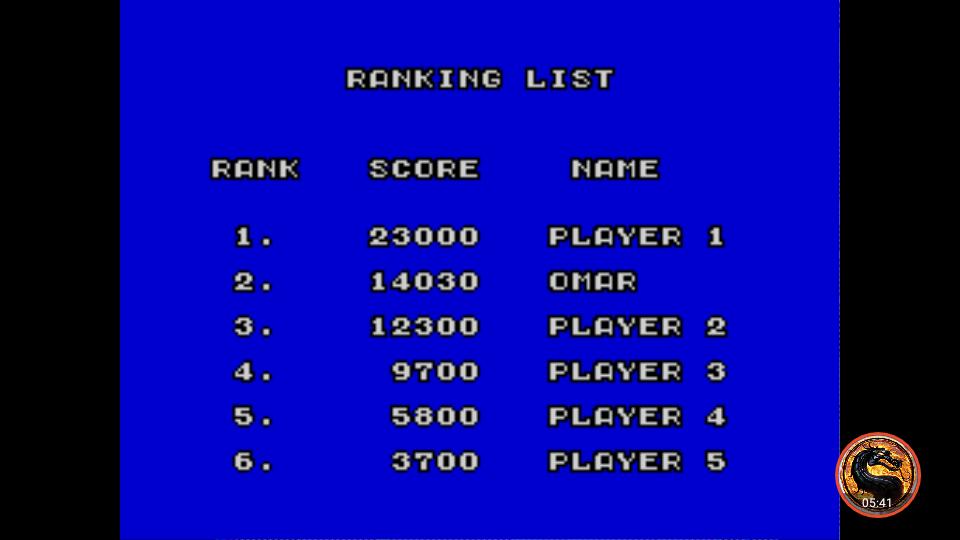 omargeddon: Action Fighter (Sega Master System Emulated) 14,030 points on 2019-02-13 21:06:32