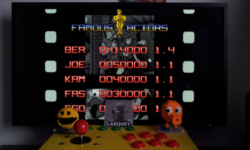 Larquey: Action Hollywood [actionhw] (Arcade Emulated / M.A.M.E.) 414,000 points on 2017-03-04 04:11:56