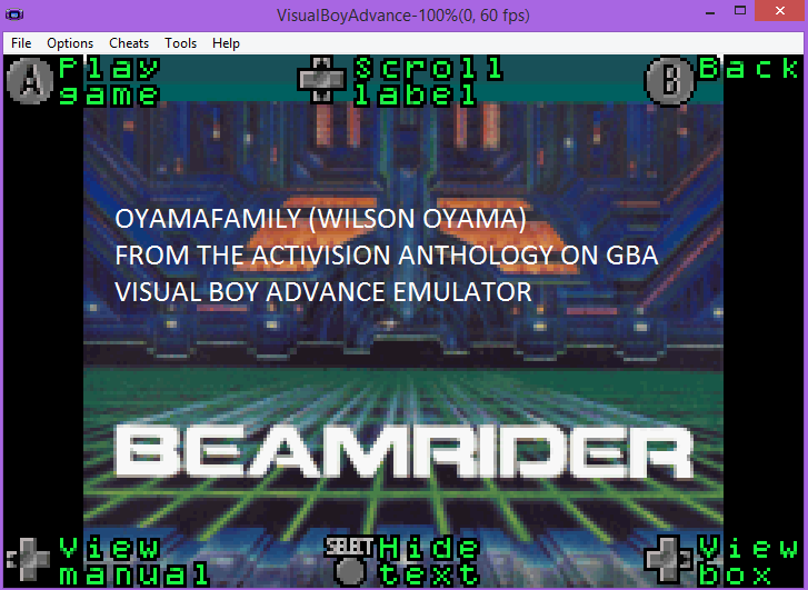 oyamafamily: Activision Anthology: Beamrider [Game 1B] (GBA Emulated) 64,120 points on 2016-07-07 18:43:28