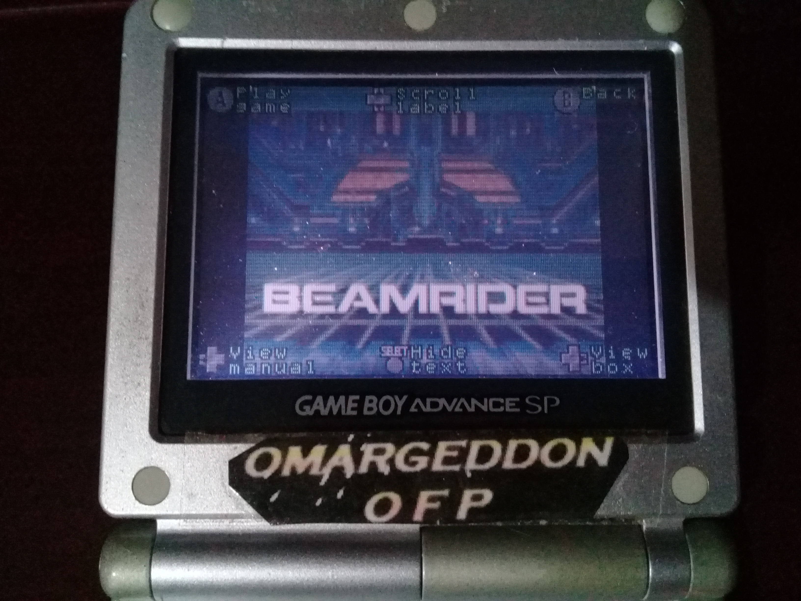 omargeddon: Activision Anthology: Beamrider [Game 1B] (GBA) 8,754 points on 2019-09-16 12:28:15
