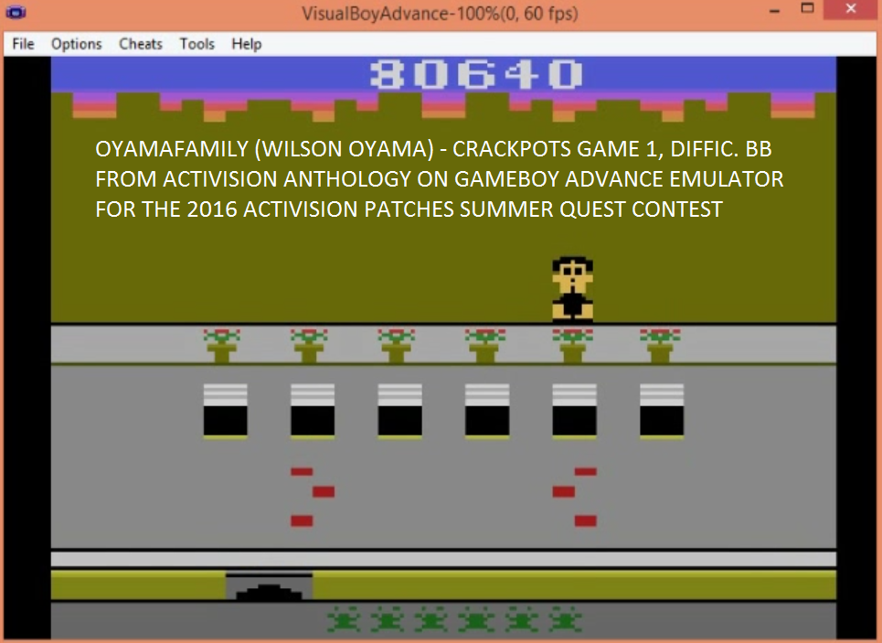 oyamafamily: Activision Anthology: Crackpots [Game 1] (GBA Emulated) 80,640 points on 2016-07-01 21:07:00