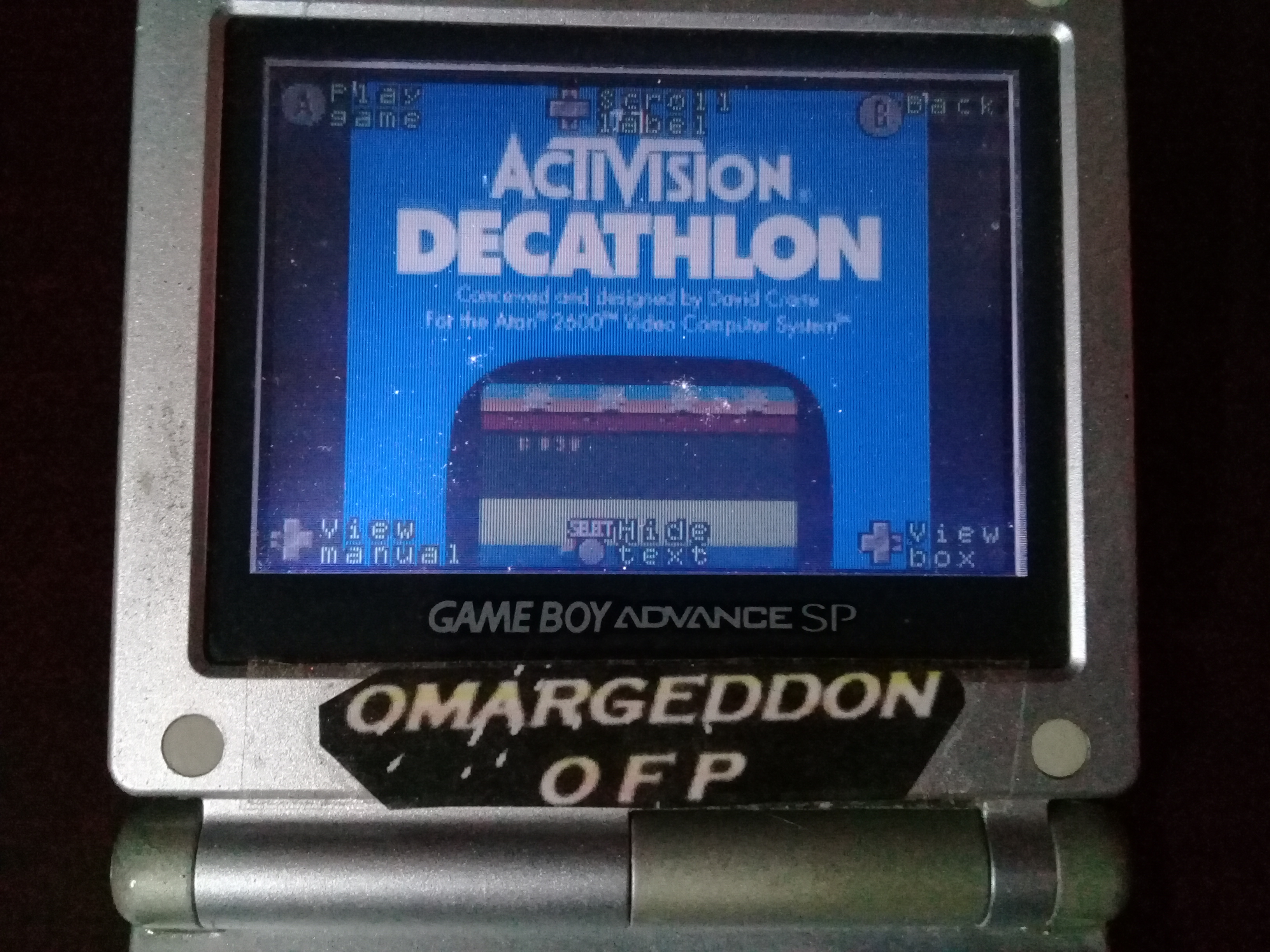 omargeddon: Activision Anthology: Decathlon [Game 1] (GBA) 9,459 points on 2020-04-19 16:28:57